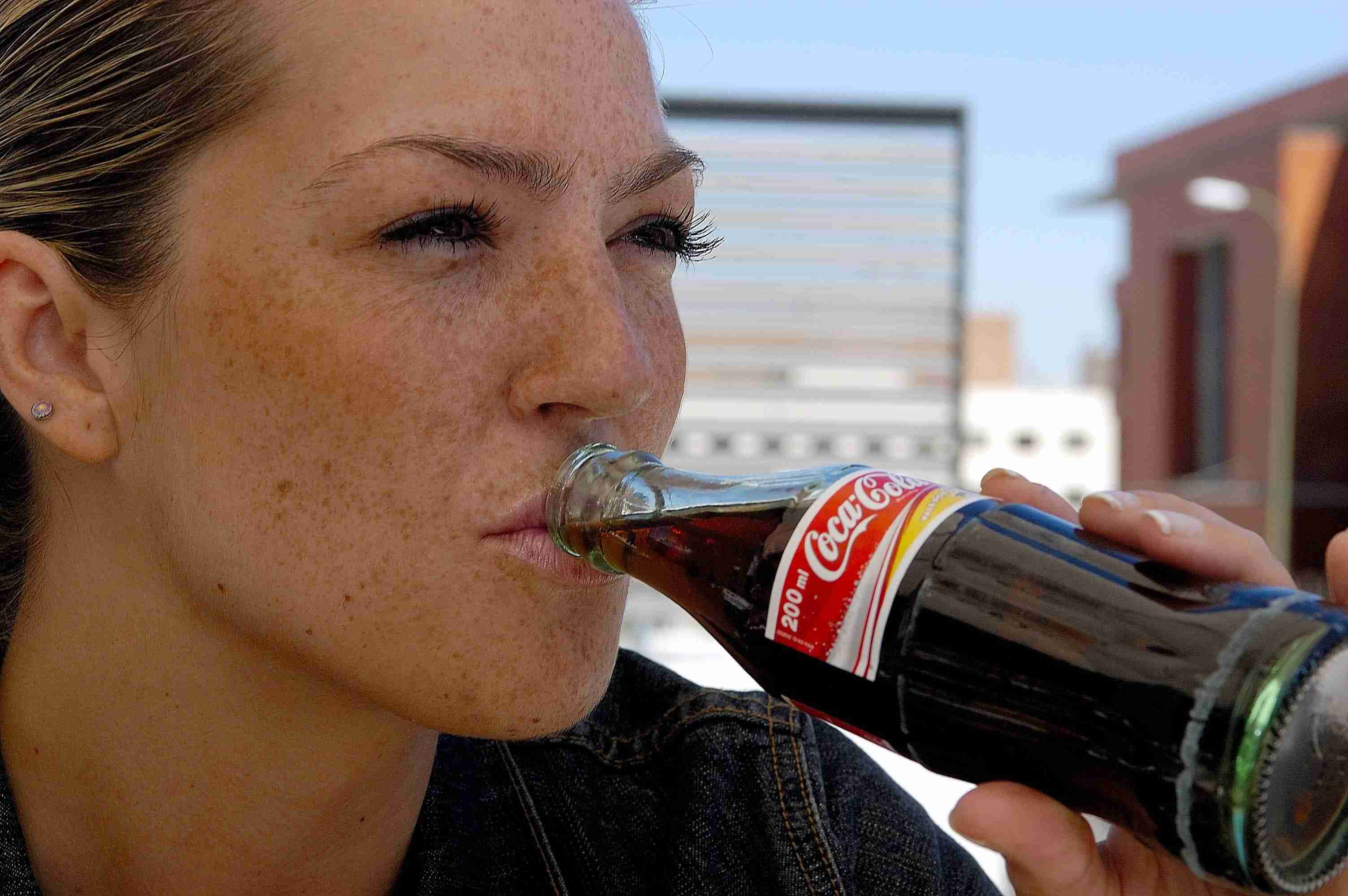 A girl drinking a coke. (Photo by Fernando Camino/Cover/Getty Images)
